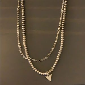 Double layer silver necklace from Lucky